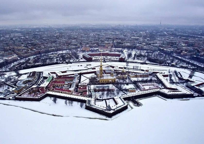 Петербург. Петропавловская крепость зимой